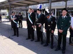 024Antreten des Bataillons Ausholen Königspaar